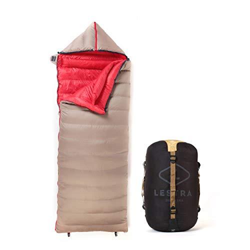 Lestra Outdoor – Cocoon – Sac de Couchage Couverture – T° limit Confort -10°C – Fermeture Gauche – Confortable & Technique – Duvet de Canard – Adulte – 190 + 40 x 80 – 1,6 kg