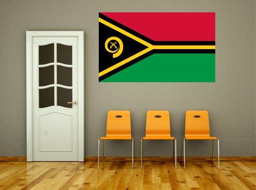 Kiwistar Wandtattoo Sticker Fahne Flagge Aufkleber Vanuatu 60 x 36cm