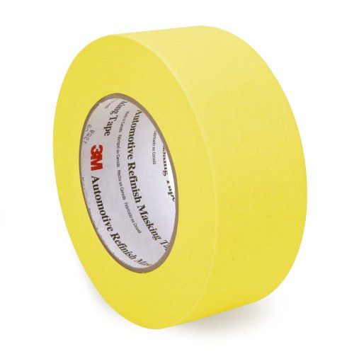 3M 06656 48 mm x 55 m Automotive Refinish Masking Tape, Pack of 24 (Pack of 24)