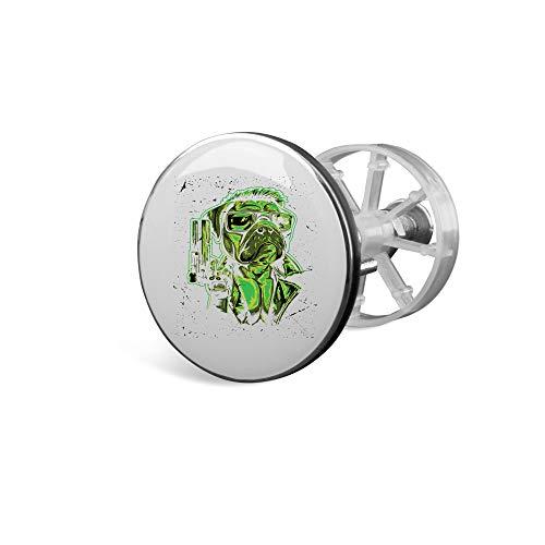 SPIRITSHIRTSHOP Mops Detektiv | Waschbecken Universal Stöpsel Abfluss Waschbeckenstöpsel Plug | hochwertige Qualität