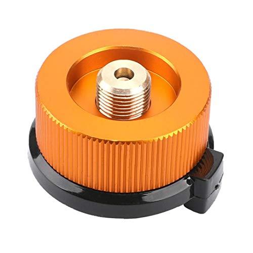 Adaptador de Cabezal Adaptador de conversión de Gas Cocina de cámping de butano Frasco de Gas Tornillo Adaptador de pistón del Cartucho