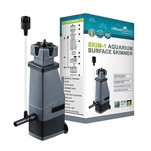All Pond Solutions Aquarium Surface Skimmer Tropical Marine Reef Fish Tank Water Internal Filter, 250 Litre