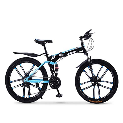 Pliuyb Folding Mountain Bike Bicycle 20 24 26 inch Male and Female Students Variable Speed Double Shock Absorption Adult (Color : 21speed-26inch)