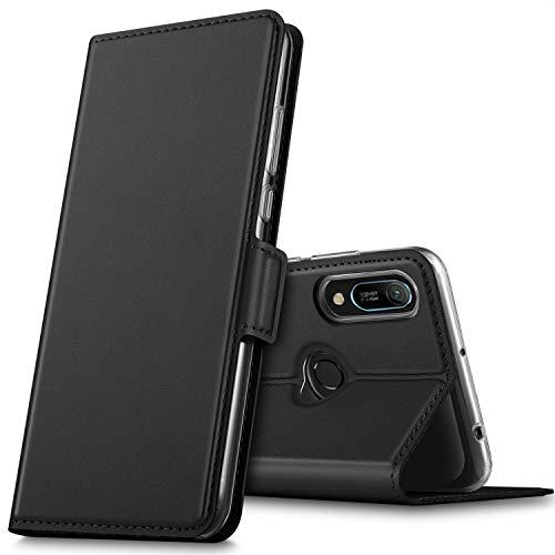 GEEMAI für Honor 8A Hülle, Huawei Y6s Hülle, handyhüllen Flip Hülle Wallet Stylish mit Standfunktion & Magnetisch PU Tasche Schutzhülle passt für Honor 8A Smartphone, Schwarz