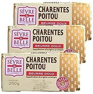 グラスフェッドバター セーブルAOC(Sevre)無塩 250g×3個セットフランス ポワトゥーシャラン産