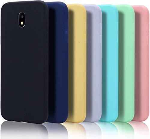 7x Custodia per Samsung J5 2017 Cover, Moevn Ultra Slim Morbido in TPU Silicone Posteriore Case per Samsung Galaxy J5 2017 Smartphone Opaco Gel Flessibile Sottile Protezione Bumper (Sette colori)