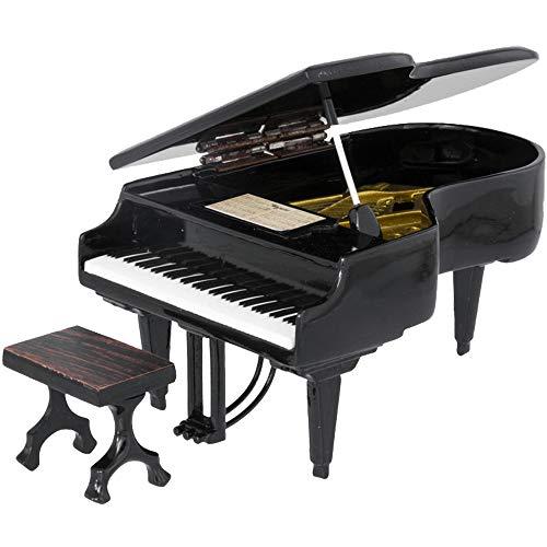 Mini Piano de cola decorativo miniatura 16x11x8,5 cm. Con Taburete