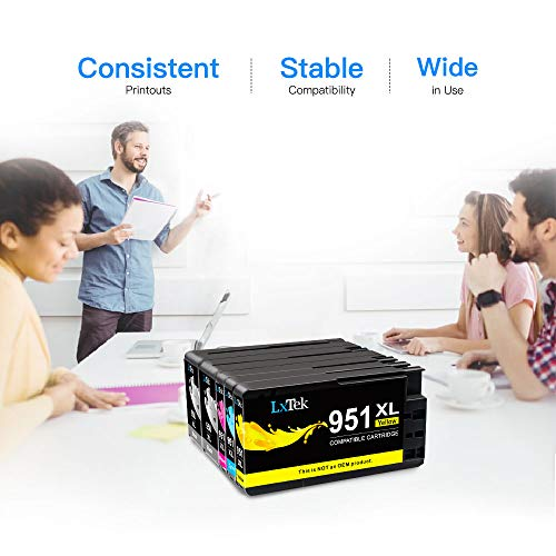 LxTek Compatible Ink Cartridge Replacement for HP 950XL 951XL 950 XL 951 XL to use with OfficeJet PRO 8600 8610 8620 8630 8100 8625 8615 276dw, 8 Pack (2 Black|2 Cyan|2 Magenta|2 Yellow) Photo #2