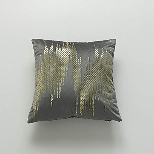 BEPM Cushion Cover Cushions For Sofa Decorative Pillows Soft Velvet Cushion Cover Abstract Rivet Home Decorative Pillow Cover For Home Sofa Bed 45X45Cm Yellow Red Dark Green Grey Brown-Grey