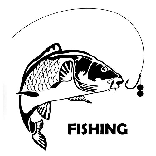 yyone Vinyl Decal for Cars, Trucks, Laptops 17.6cm*19cm Fish Fishing Fashion Car Styling Automobiles