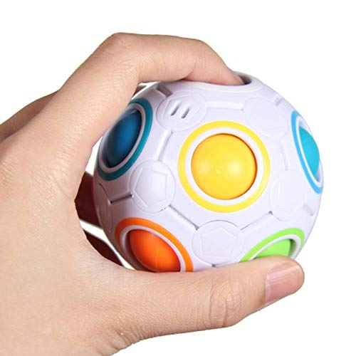 N-B Magic Rainbow Puzzle Ball Bag Color Matching Game Toy To Relieve Stress Magic Ball Brain Teasers Suitable For Children and Adult Children, Etc.