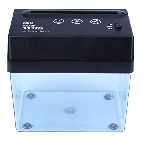 Iycorish Desktop A5 oder A4 gefaltete Papier Streifen geschnitten -USB-Schredder fuer Zuhause/Buero