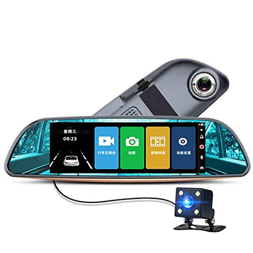 Dashcam Auto Dashcam Car Dash Fotocamera Anteriore E Posteriore Telecamera per auto Rilevatore di Autovelox Mini Dash Cam 4 inch double record,One Size