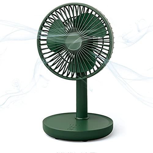 PENGFLY USB Fan, Clip-On Hose Light Fan, Small Size and Easy to Carry, Four Wind Speeds Can Be Adjusted at Will, The Best Choice for Home Office,Green