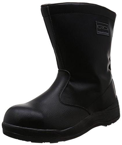 [コーコス信岡] 半長靴 プロスニーカー JSAA認定 吸汗裏布 耐油底 ジプロア メンズ ブラック 25.5
