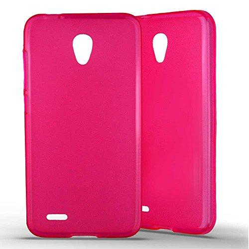 1001 Coques - Cover per Alcatel One Touch Go Play in silicone gel satinato, colore: Rosa