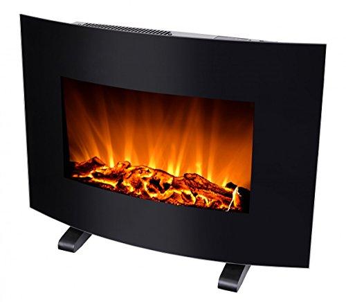 Silva Schneider Homeline FP-H 100 Elektro-Kamin, 900 und 1800 Watt, LED Flammeneffekt, Glasfront, Fernbedienung