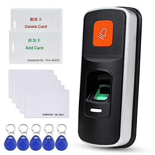 NN99 Standalone RFID Fingerprint Zutrittskontrollsystem Biometric 125KHz Reader Türöffner Controller Unterstützung SD-Karte Wiegand26 + 10 Stück Key Cards