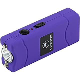 VIPERTEK VTS-881 - 35 Billion Micro Stun Gun - Rechargeable with LED Flashlight, Purple