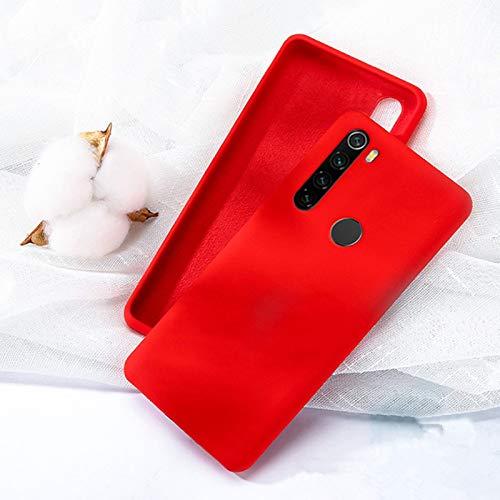 Capa Silicone Macio Xiaomi Redmi Note 8 Forro Interno - Vermelho