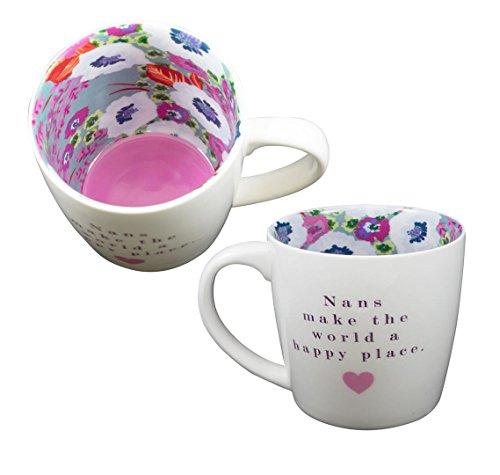 Tasse ~ Céramique thé/café ~ Vice Versa Tasse - 'NAN'S' - Grand-mère FAITES LE MONDE UN HEUREUX LIEU