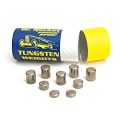 """1.7 times more dense than lead leads allows for precision placement of weight in the back of your derby car for fast acceleration and an edge over the competition. Easy to install with just a 3/8"""" drill bit. Drill the hole, place the weight and secur..."""