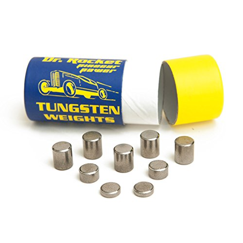 Pinecar Race Weights Tungsten 3.25oz. Pinecar Power with Varied Sizes of Incremental Cylinders. Heavy with No Lead. by Dr. Rocket