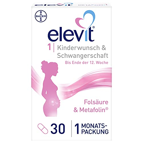 ELEVIT, 1 Tabletten Nährstoffe ab Kinderwunsch und im ersten Schwangerschaftsdrittel, 30 stück