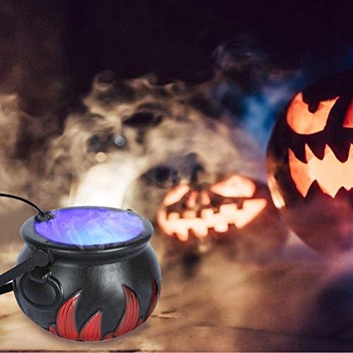 Newooh Nebelmaschine Farbwechsel 12 LED Ultraschall Nebel Maker Fogger Teich Nebel Zerstäuber, für Halloween, Party