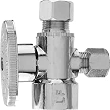 Keeney 2902PCLF 1/2-Inch FIP by 3/8-Inch by 1/4-Inch Lead Free Quarter Turn 3 Way Valve, Chrome