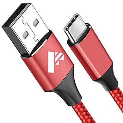 USB C Cable, Aioneus Type C Cable 2M Fast Charging Cable Lead Nylon Braided USB-C Charger Cable for Samsung Galaxy S10 S9 S8 S20 fe A40 A41 A50 A51 A70 A71 A20e,Huawei P30 P20,Sony Xperia,Google Pixel