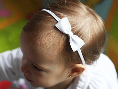 Golden Beam Baby-Haarband mit kleiner Schleife aus Satin, handgefertigt, für Babys und Erwachsene