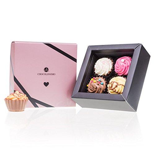Love & CupCake 4 - Pralinen in Cupcake-Form | Geschenk | Erwachsene | Mann | Frau | Geschenkidee Liebe | Geburtstag | Mama | Papa | Muttertag | Valentinstag Schokolade | Vatertag | Osterpralinen