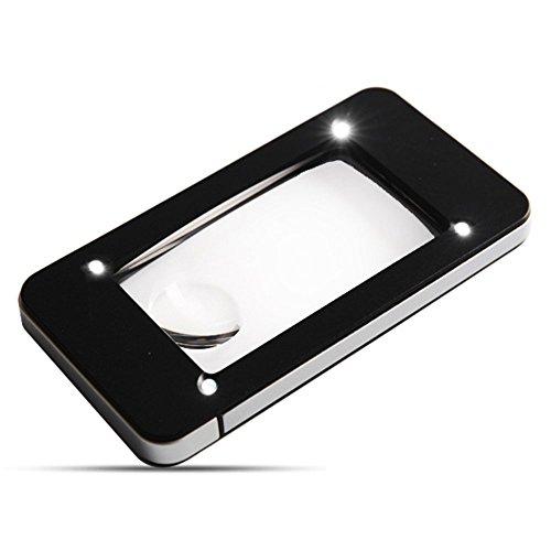 Verlichte loep 5x 10x Hd Lens met LED-verlichting voor oude man boek lezen sieraden identificatie klokken DIY ambachtelijk knippen en repareren handvergrootglas zwart
