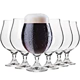Krosno Dunkel Stout Biergläser 0,5 Liter | Set von 6 | 500 ML | Elite Kollektion | Perfekt für Zuhause, Restaurants und Partys | Spülmaschinenfest und Mikrowellengeeignet