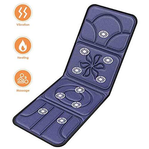Mikowoo Massage Matratze Elektrisch Shiatsu Kissen Ganzkörper Beheizte Massage-Matte Lindert Stress Oder Anspannung Von Der Schulter Und Rückenschmerzen