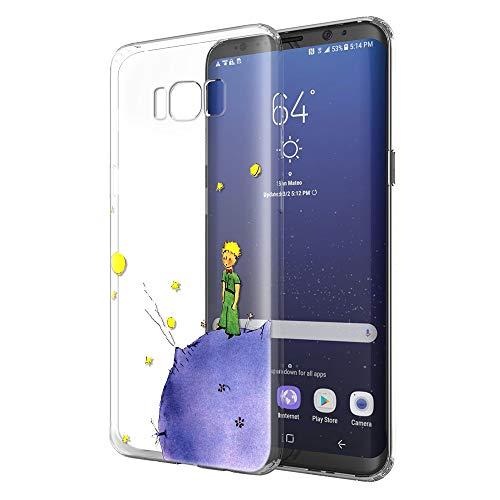 YOEDGE Funda Samsung Galaxy S8 Plus Ultra Slim Cárcasa Silicona Transparente con Dibujos Animados Diseño Patrón [El Principito] Resistente Bumper Case Cover para Samsung Galaxy S8 Plus (Púrpura)