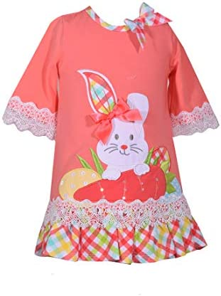 Bonnie Jean Baby Toddler and Little Girl s Easter Dress with Bunny Applique 24 Months product image