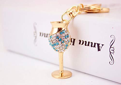 Cadeaus UK® Wijn Goblet Fluit Bril Crystal Diamante Tas Bedel Handtas Sleutelhanger
