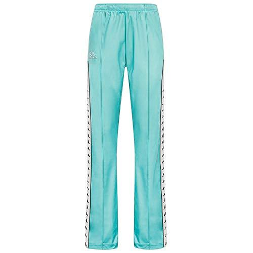 Kappa Wastoria - Pantaloni Snaps, Donna, Pantaloni, 3031VY0, Turchese, XS