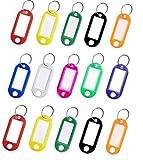 Paquete de 50 Llavero etiquetar, etiqueta para llavesen plástico de colores para surtidos surtidos etiqueta para llaves para oficinas en el hogar Etiqueta de equipaje