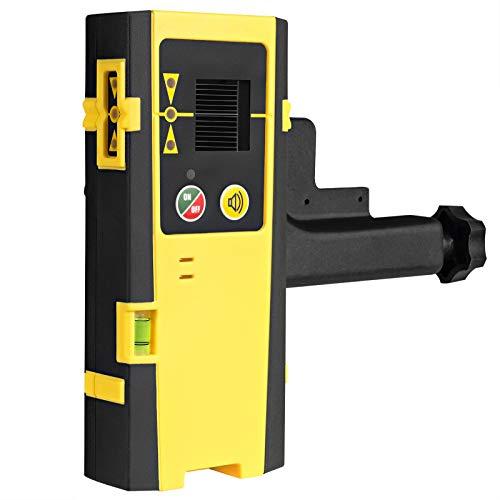 Firecore Laserempfänger Laserdetektor für Puls-Kreuzlinienlaser, Laser Receiver für Rote und Grüne Laserstrahlen, LED-Anzeigen, Automatischer Abschalttimer, mit Stangenklemme- FD20