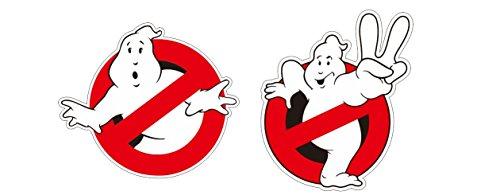 Shopping-World-Thailand Ghostbusters Aufkleber 2X Ghost Geisterjäger Gespenster Sticker/Plus Schlüsselringanhänger aus Kokosnuss-Schale/Auto Motorrad Laptop Tuning Racing Bill Murray Film Kult