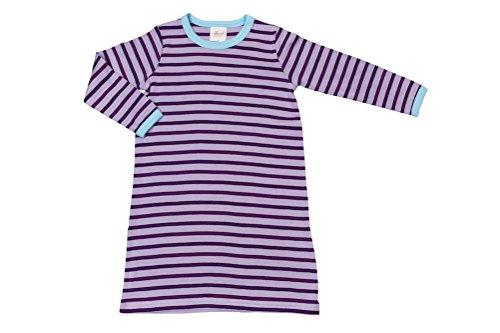 Bébé à manches longues Chemise de nuit violet/geringelt Taille 92 Bio