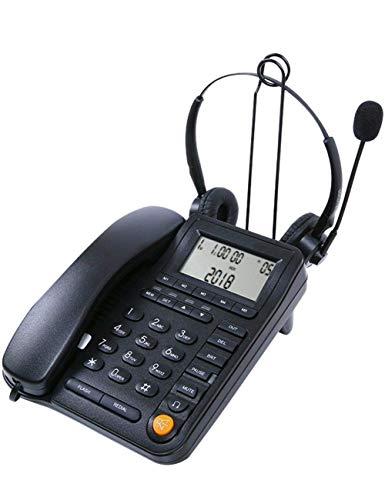 Teléfono - Teléfono Teléfonos del Centro De Atención Telefónica del Servicio Al Cliente con Auriculares Manos Libres, Teléfono con Cable Incorporado Di del Llamador