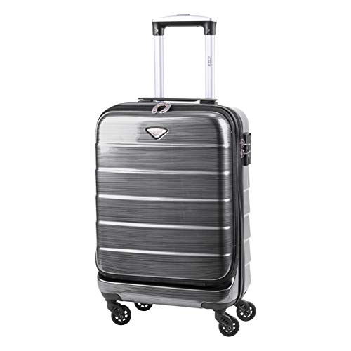 Flight Knight Laptop Compartment Carry On Suitcase TSA Lock 4 Wheel ABS Hard Case Work Business Travel Bag easyJet Ryanair BA Flybe Approved 55x35x20cm