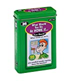 "56 full color cards (2 1/2"" x 3 1/2"") - Each has an illustration with a ""What would you do at home if..."" question Fun, easy way to practice problem solving and social skills Educational - Helps children learn to make good choices in and around their..."