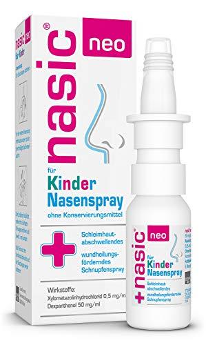 nasic neo für Kinder Nasenspray mit dem WirkPlus – Abschwellendes Schnupfenspray ohne Konservierungsstoffe für Kinder ab 2 Jahren – Mit Xylometazolin, Dexpanthenol – 10 ml