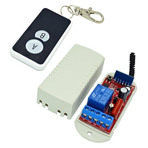 MagiDeal AC110-220V Moudule de Commutateur 433Mhz 1 Canal + Module de Récepteur + Télécommande - télécommande à 2 Boutons