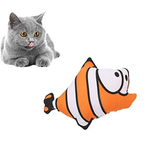 YY LIU Gioco Gatto Pesce per Gatto Giochi per Gatti in Casa Pesce Giocattolo per Gatto per Incoraggia Una Buona Igiene Dentale Mantieni I Tuoi Denti Sani a